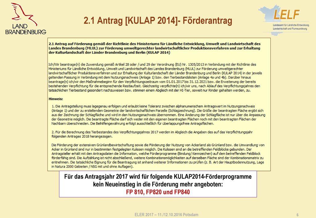 2.2 Änderungsantrag/ Übernahmeantrag [KULAP 2014]